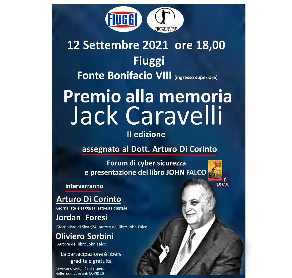 Locandina Trovautore Fiuggi Premio Letterario Jack Caravelli