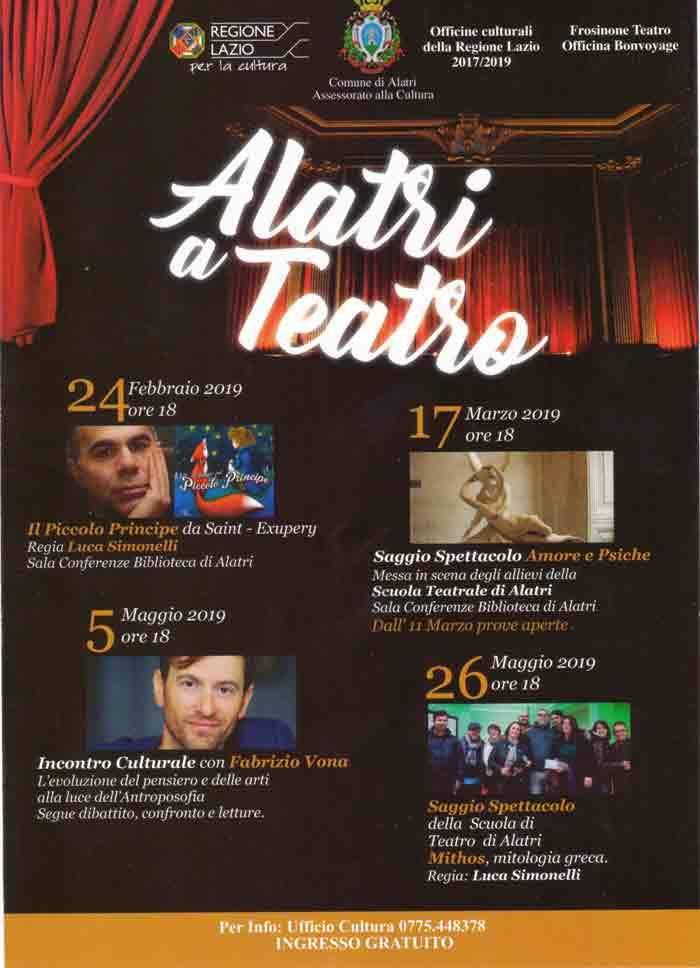Locandina Alatri a teatro 2019