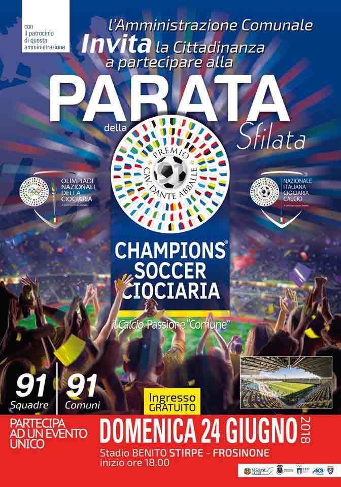 Locandina Champions Soccer Ciociaria