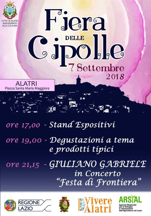 Locandina Festa delle Cipolle 2018 Alatri