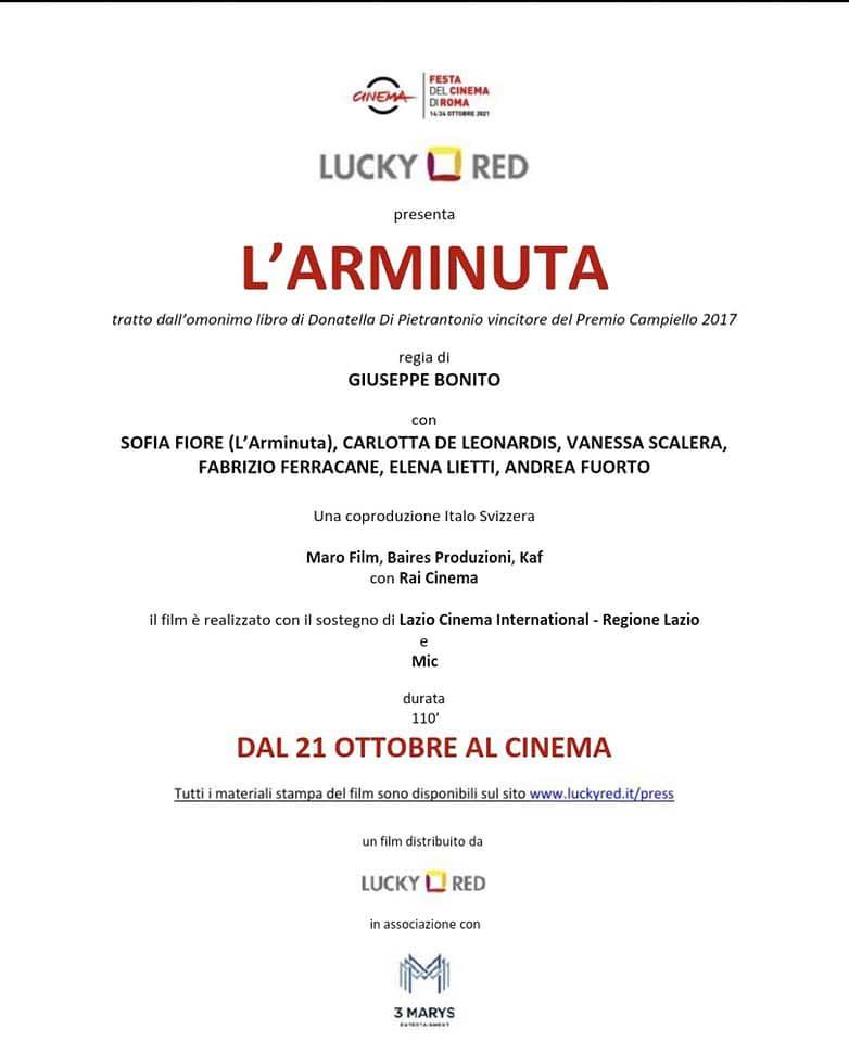Festa del Cinema Roma Anteprima Arminuta Cassino