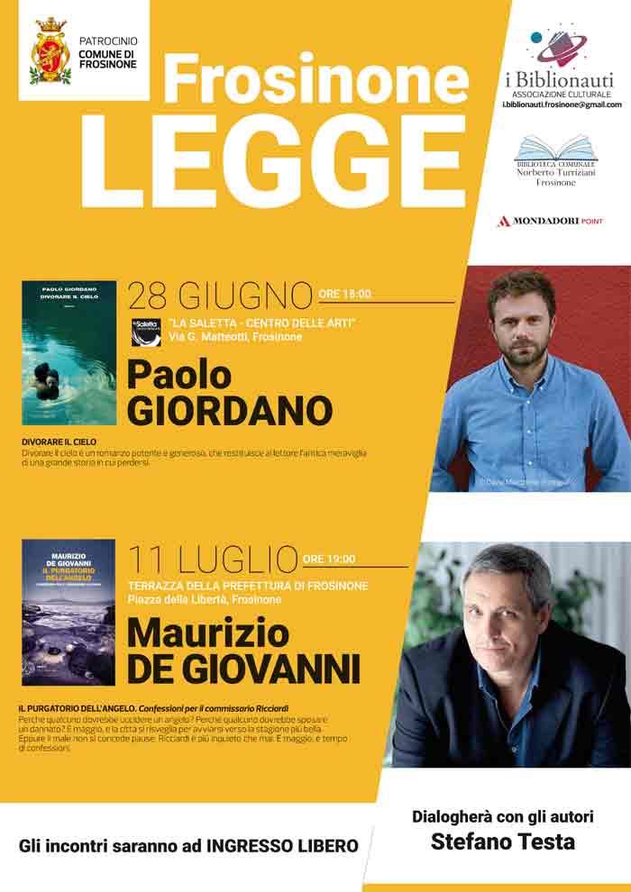 Locandina Frosinone Legge Paolo Giordano