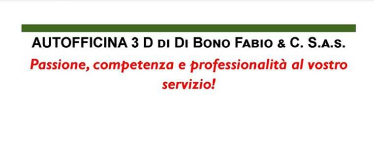 Logo Autofficina 3D Di Bono Fabio