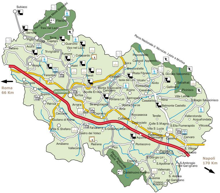 Mappa Della Ciociaria