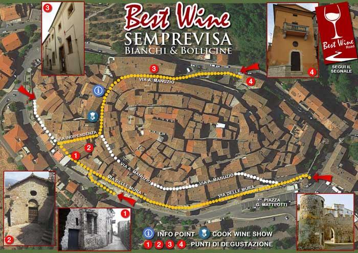 mappa vino Bassiano
