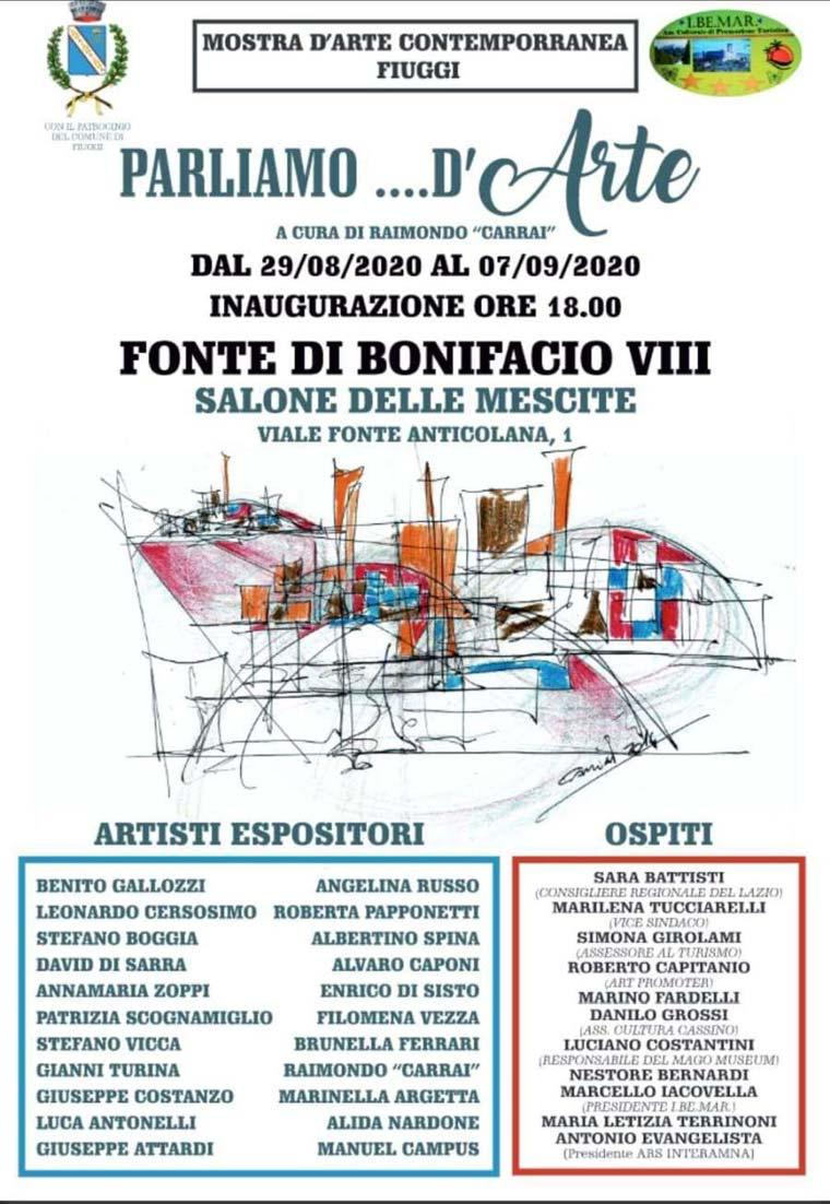 Mostra Arte Contemporanea Fiuggi Settembre 2020