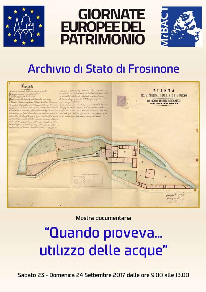 Mostra Documentaria Acqua Archivio di Stato Frosinone