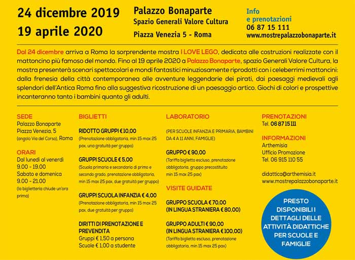 Mostra sui Lego a Roma