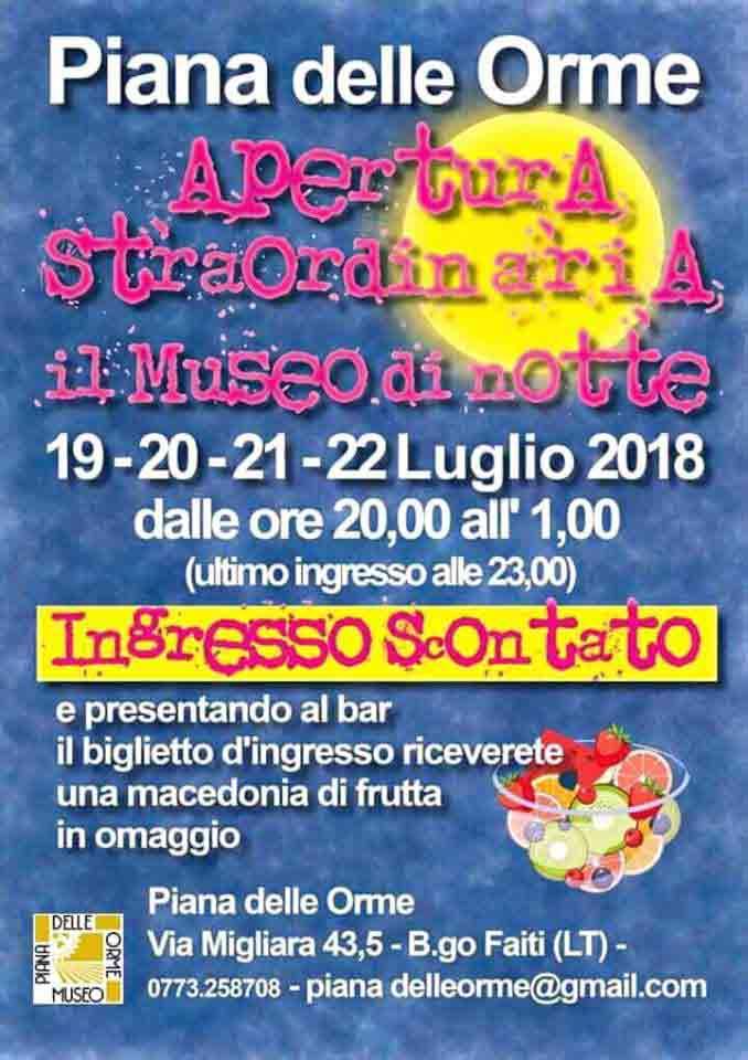 Museo Piana Delle Orme Di Notte Locandina