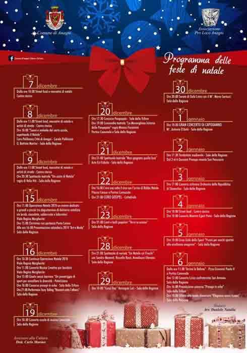 Natale ad Anagni Programma Completo