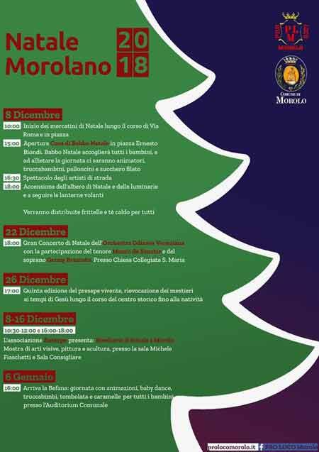 Natale Morolo 2018 Programma
