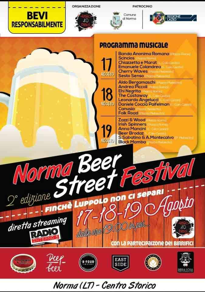 Norma Street Beer Festival 2018 Locandina