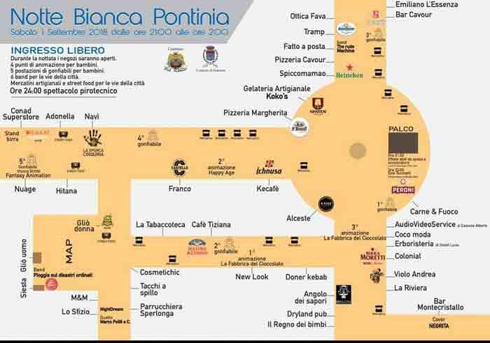 Notte Bianca Pontinia Locandina 2018