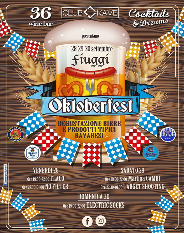 Oktoberfest Fiuggi Locandina 2018