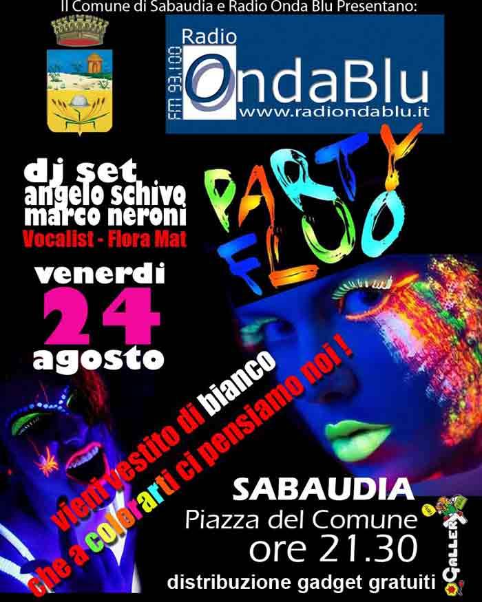 Party Fluo Sabaudia Locandina 2018