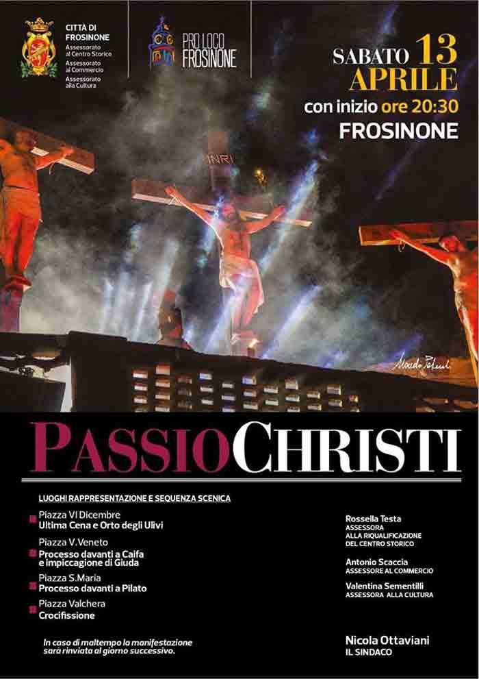 passio Christi Frosinone locandina