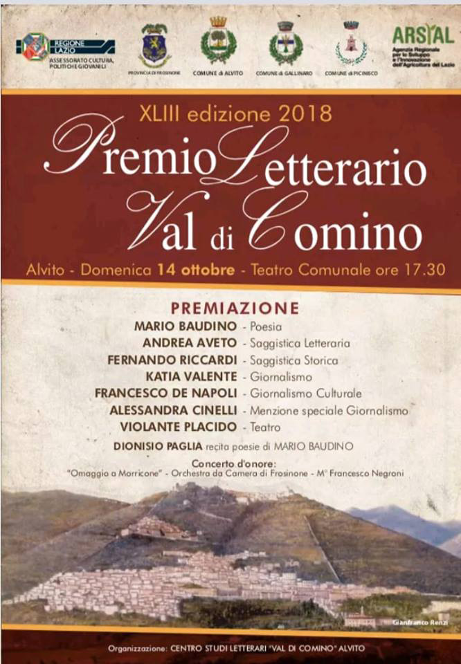 Premio Letterario Val di Comino Locandina