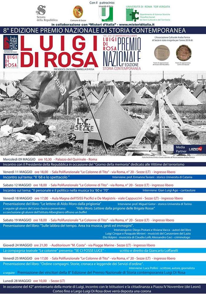 Premio Nazionale Luigi Di Rosa Sezze Locandina