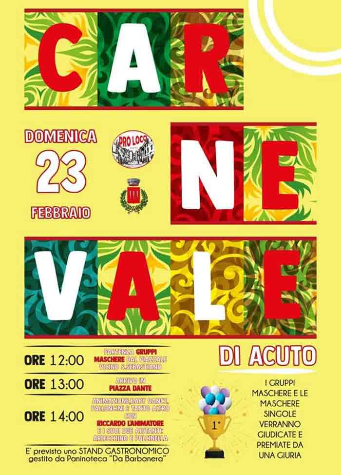 Programma del Carnevale di Acuto