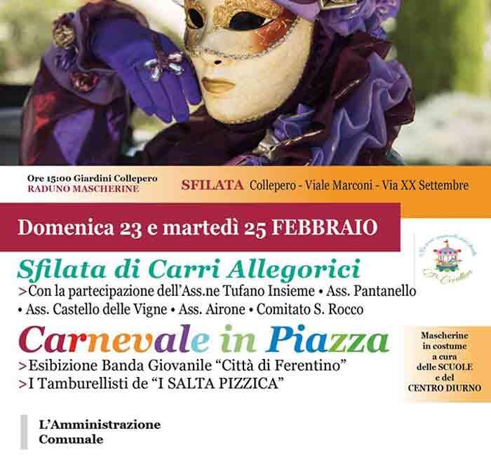 Il programma di Carnevale a Ferentino