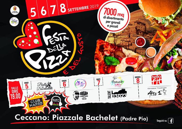 Il programma della festa della pizza a Ceccano