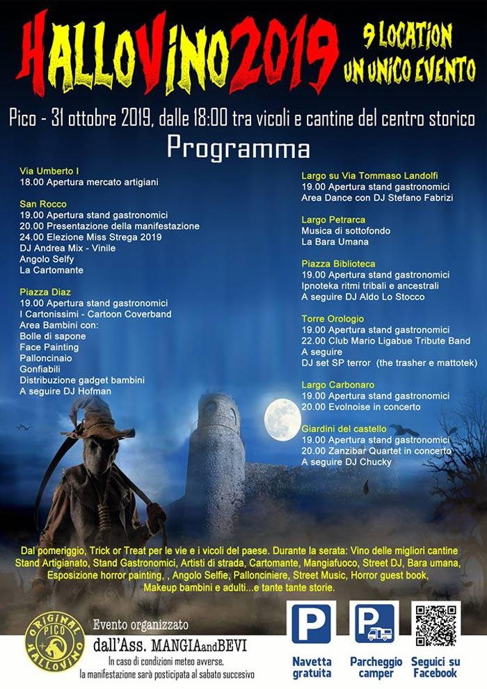 Il programma di Hallovino 2019