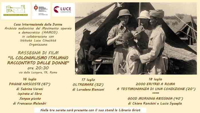 Rassegna Film Colonialismo Griot