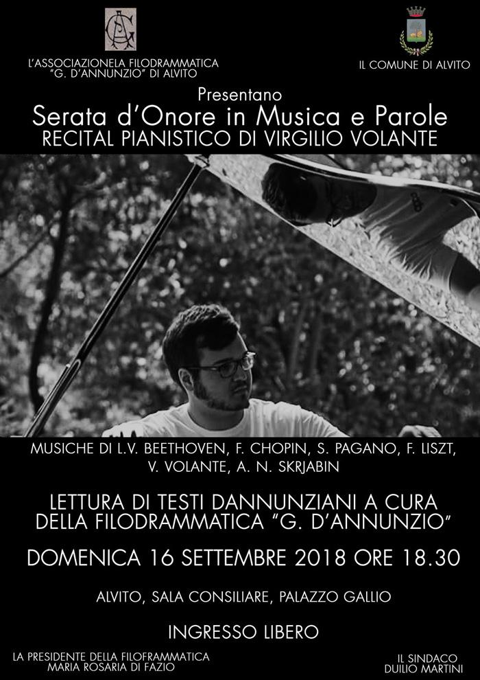 Recital Pianistico Locandina Alvito