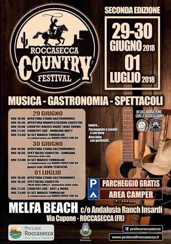 Roccasecca Country Festival Locandina