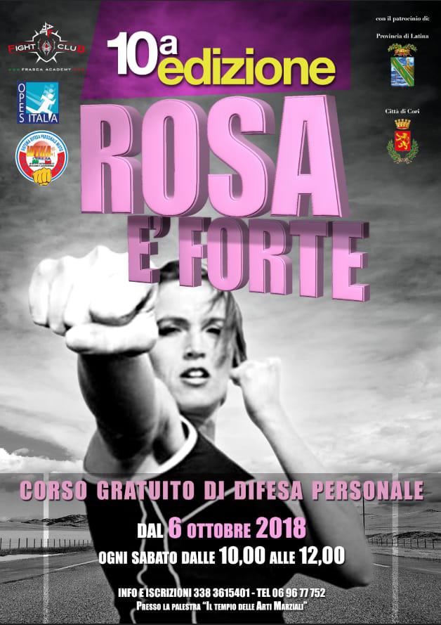 Rosa è Forte Locandina Cori 2018