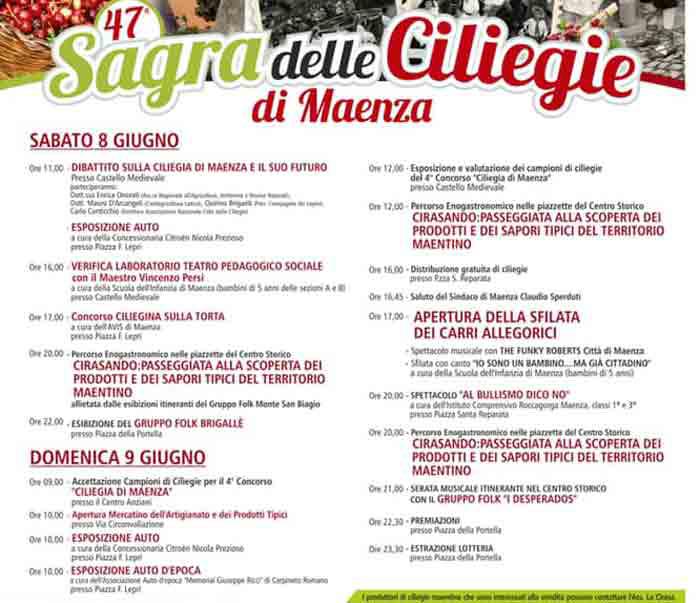 sagra ciliegia Maenza