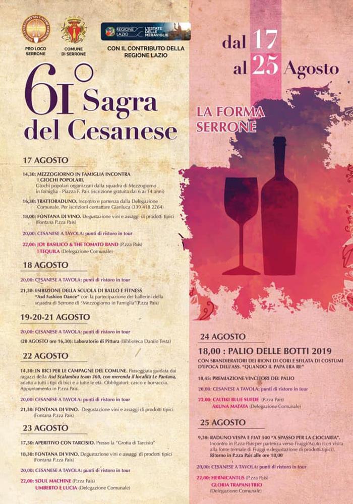 sagra del Cesanese Serrone