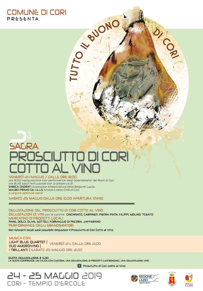 sagra prosciutto cotto vino Cori