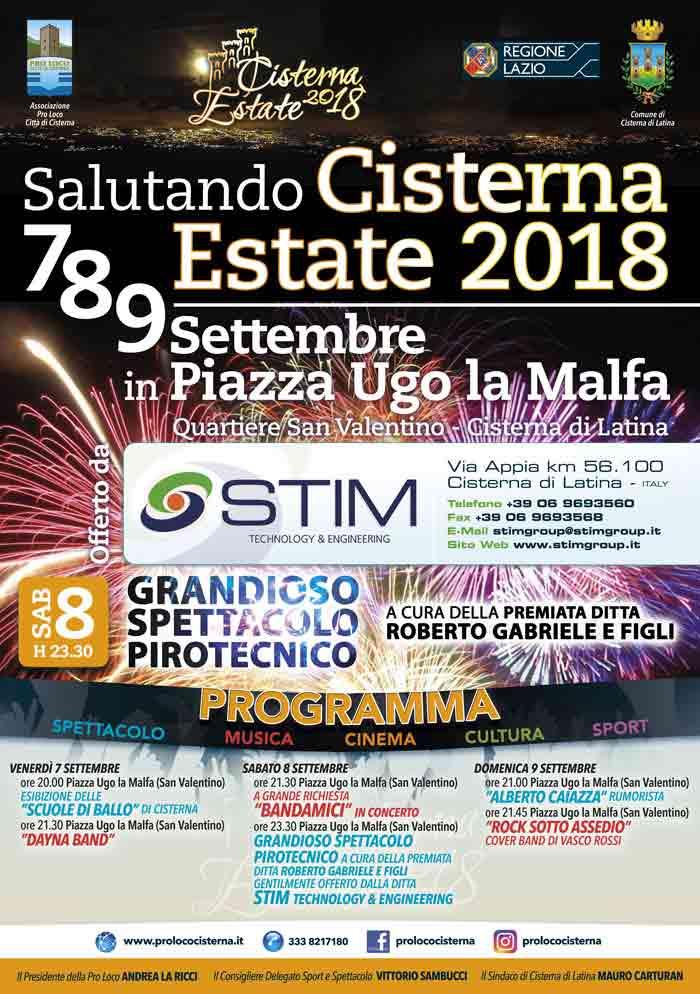 Salutando Cisterna Estate Locandina 2018