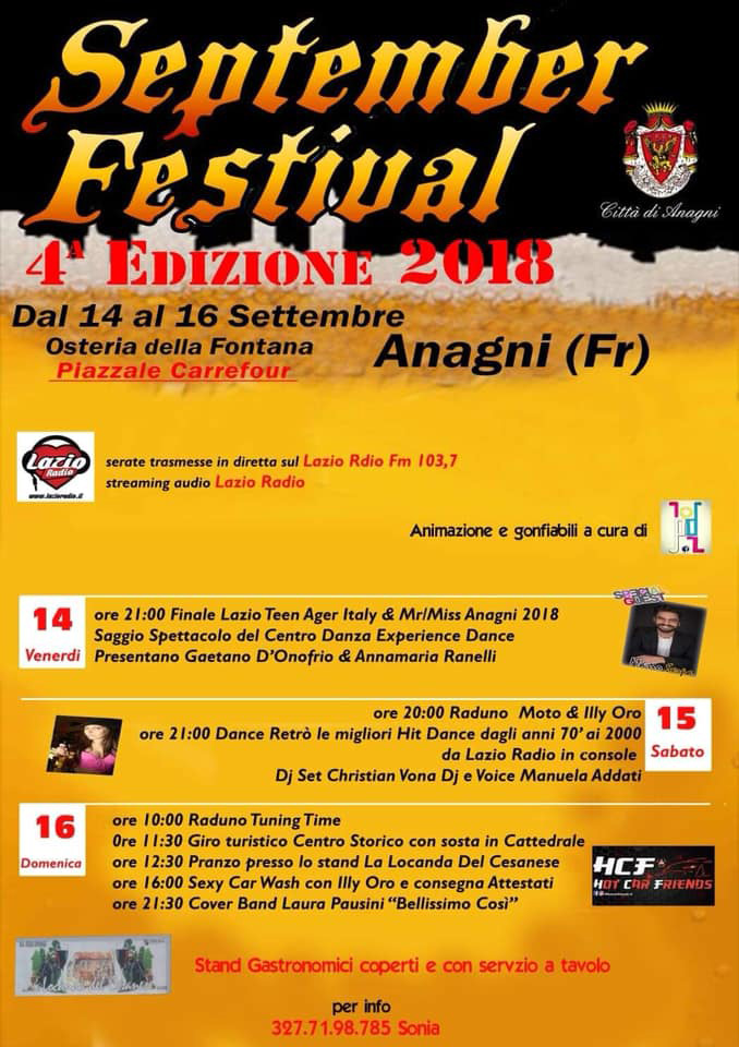 September Festival Anagni Locandina 2018