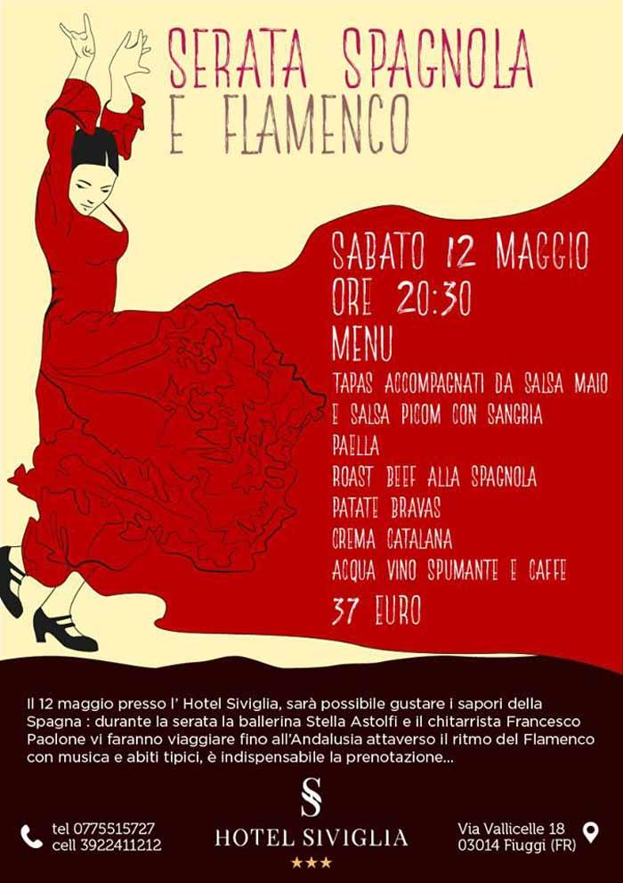 Serata Spagnola e Flamenco Hotel Siviglia Locandina