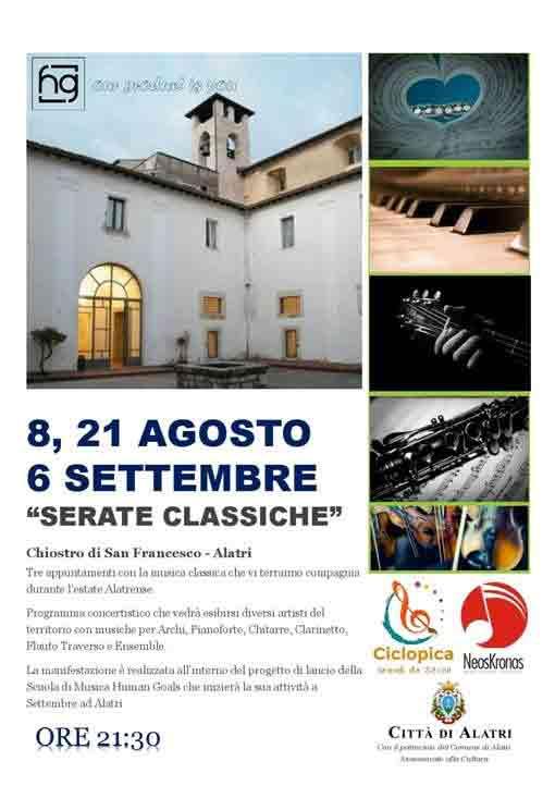 Serate Classiche Alatri Locandina 2018