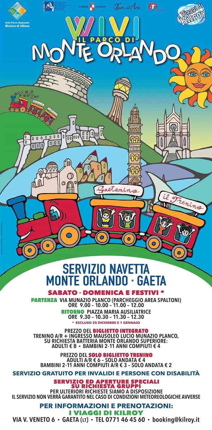 Servizio Navetta Monte Orlando Gaeta Locandina