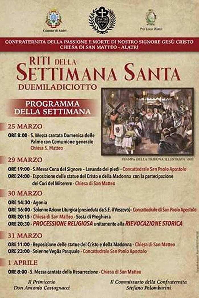 Settimana Santa Alatri