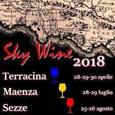 Sky Wine a Sezze Locandina 2018