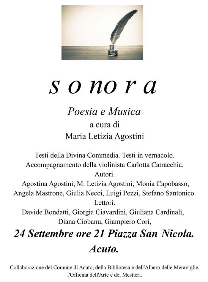 Sonora Poesia e Musica Acuto
