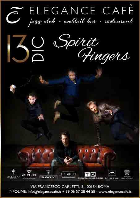 Spirit Fingers Elegance Café Locandina