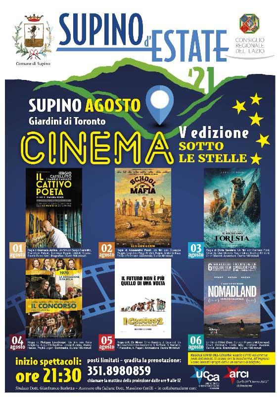 Supino D'Estate Cinema Sotto Le Stelle 2021
