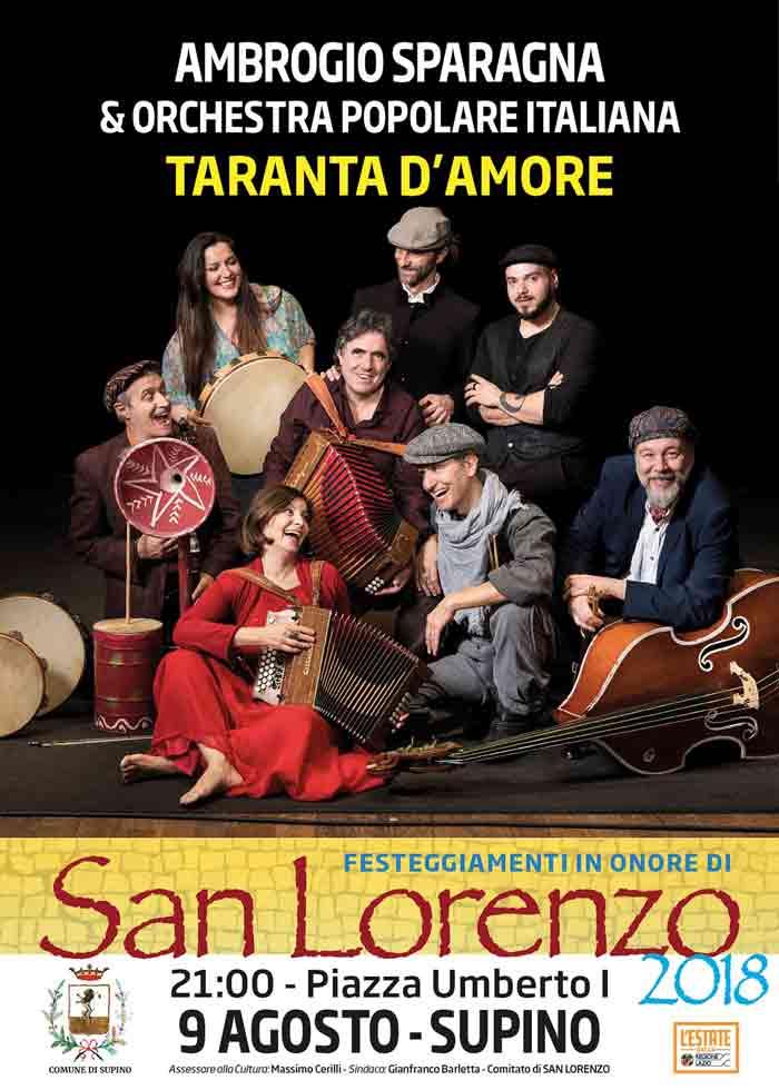 Taranta d'Amore Locandina Supino 2018