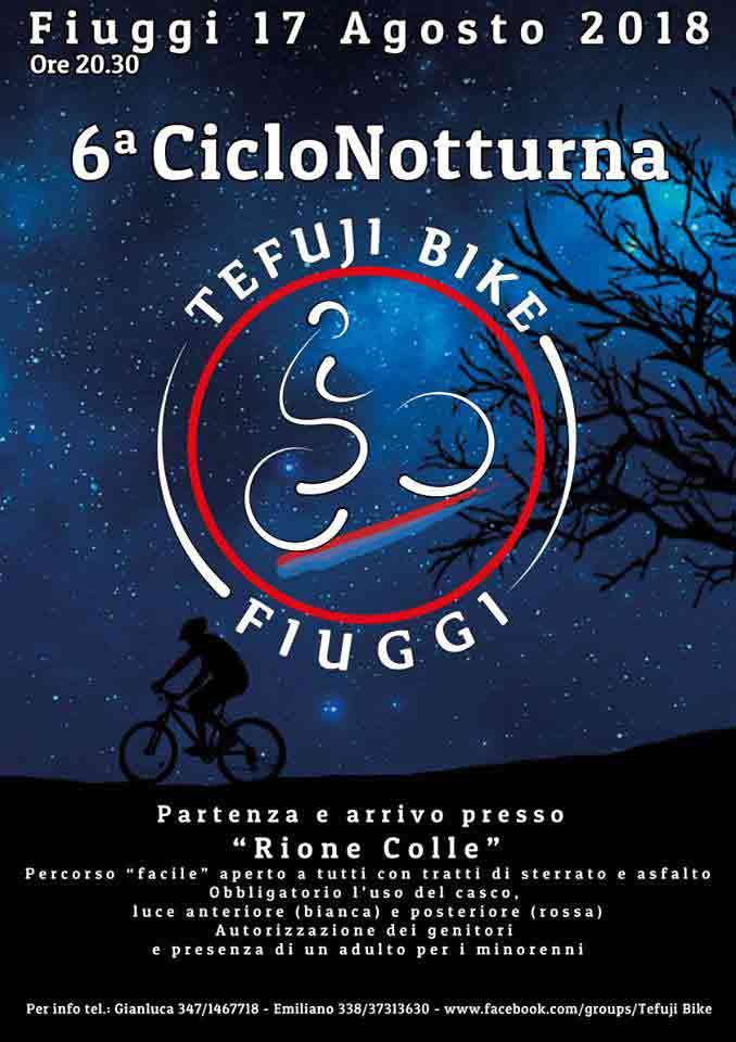 Tefuji Bike Fiuggi 2018 Locandina