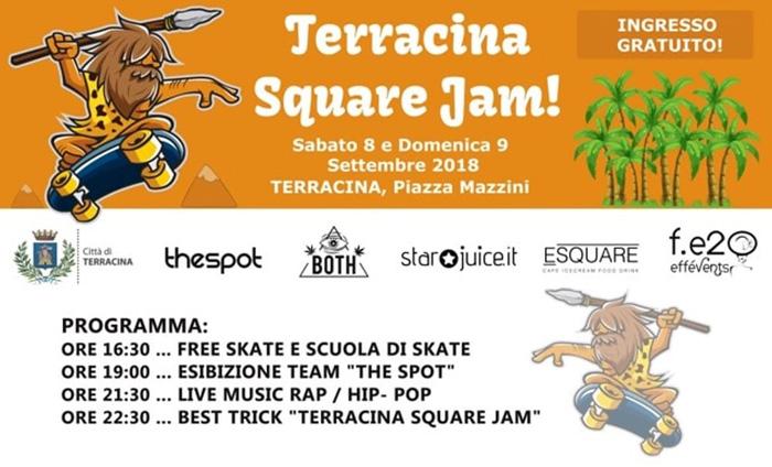 Terracina Square Jam Locandina 2018