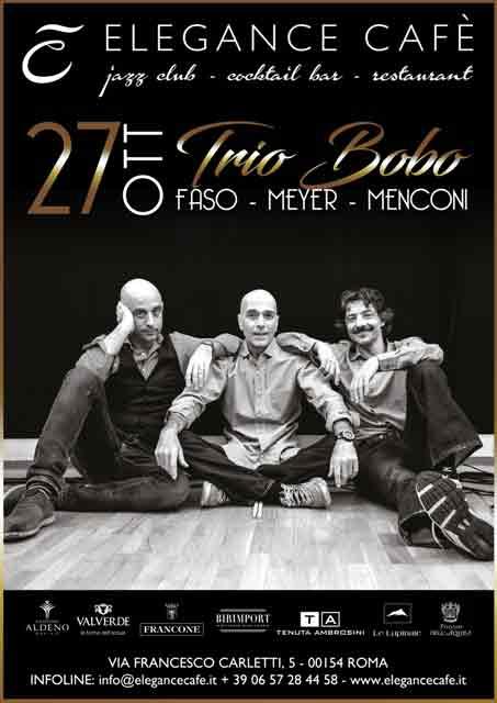 Trio Bobo Locandina Elegance Cafè