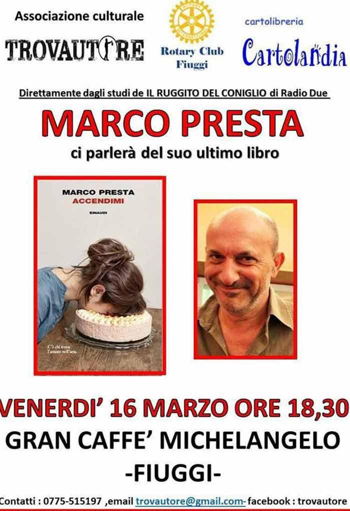 Trovautore Marco Presta Fiuggi