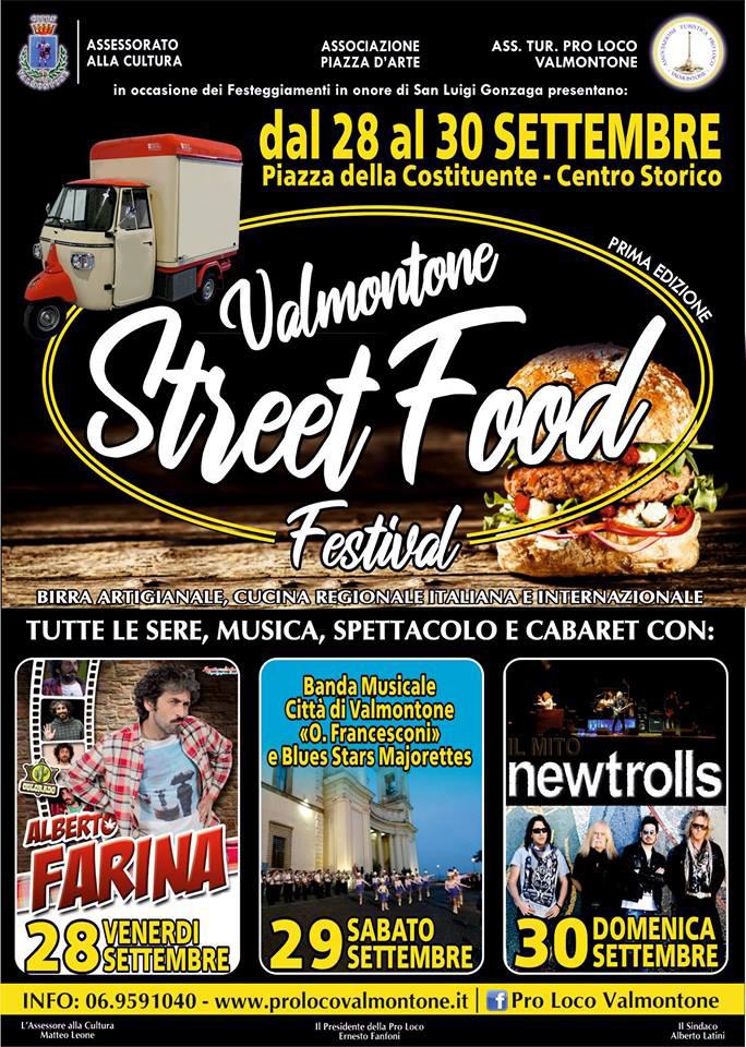 Valmontone Street Food Festival Locandina 2018